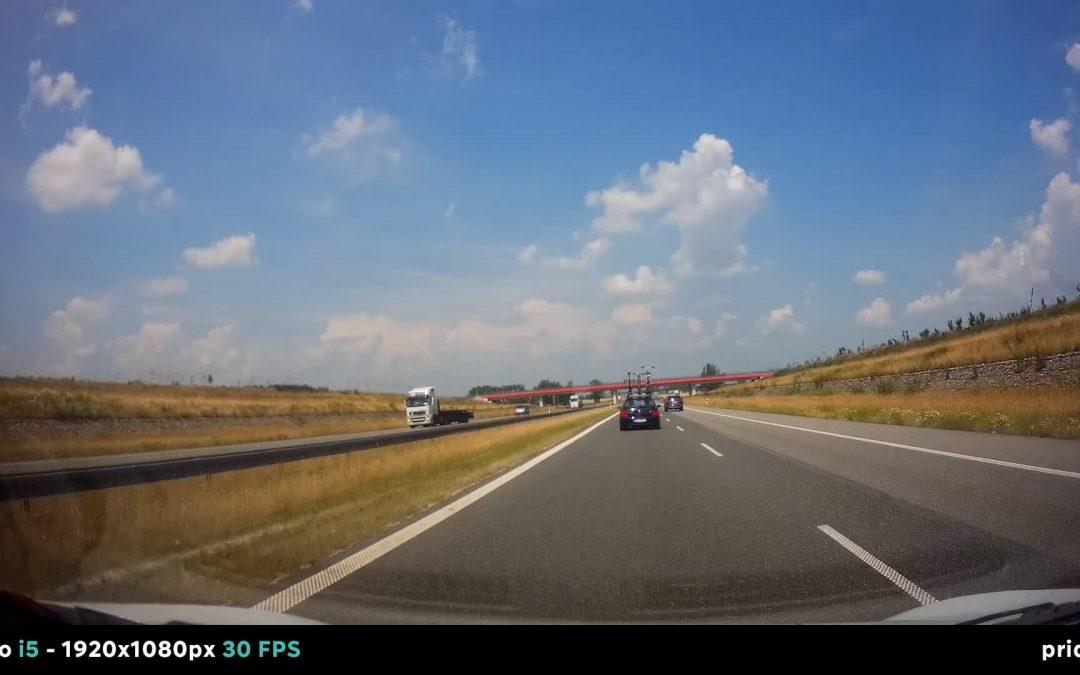 Test rejestratora jazdy Prido i5 (słoneczny dzień)
