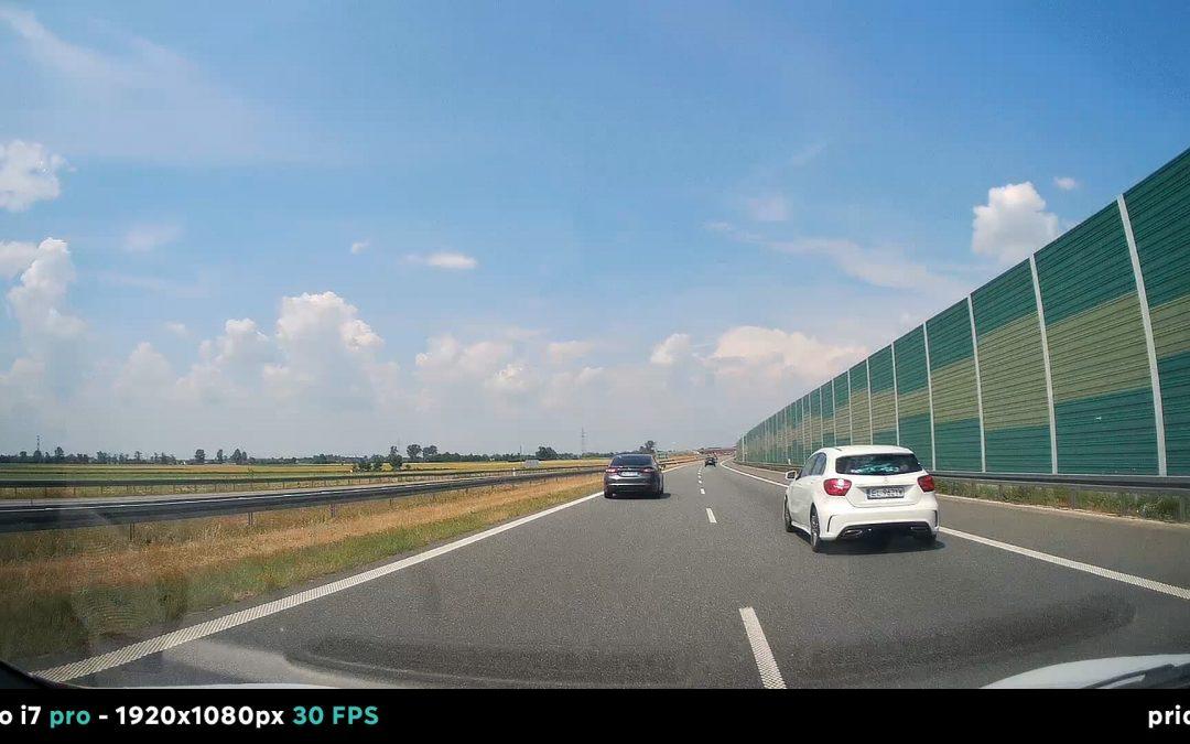 Test rejestratora samochodowego Prido i7 pro (słoneczny dzień)