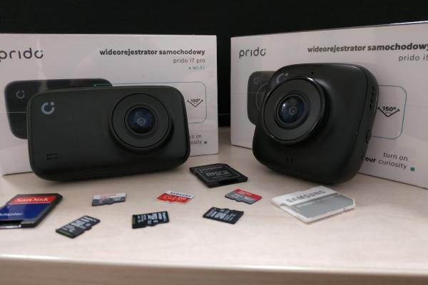 Karty microSD obsługiwane przez rejestratory Prido*