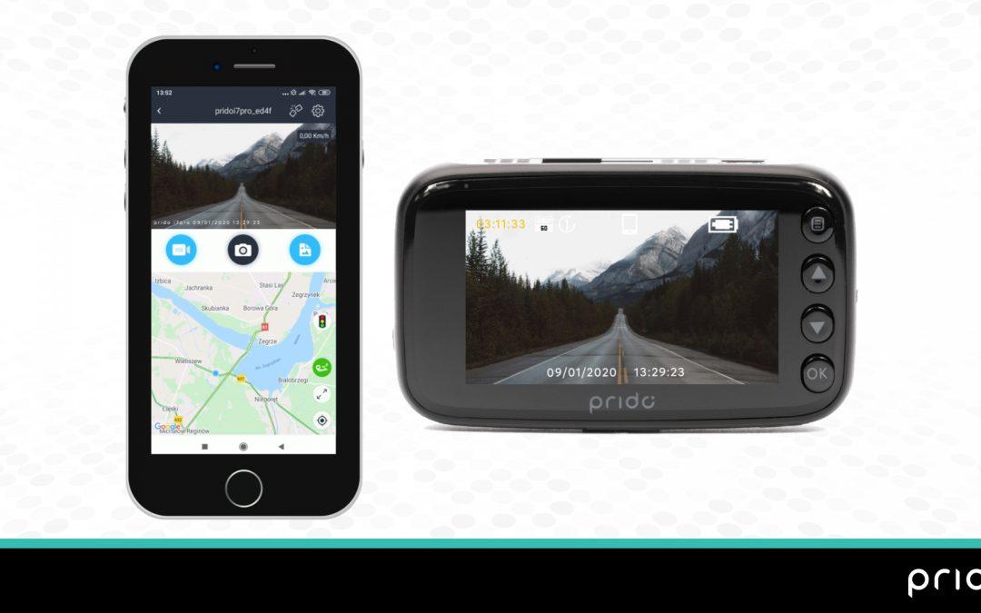 Podłączenie wideorejestratora Prido do aplikacji mobilnej